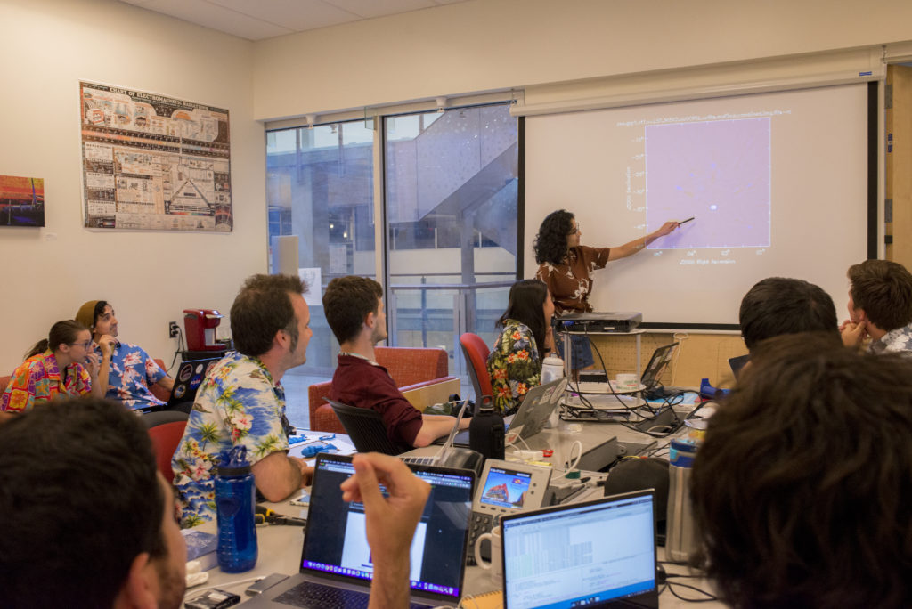 Karishma Albal leads a discussion during MAD Lab summer 2018